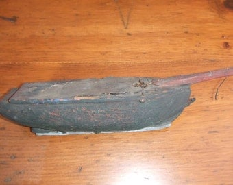 1880's Folk Art ~ Wooden Pond Boat