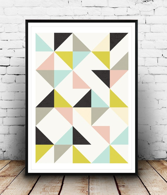 abstract poster geometric poster nursery print abstract. Black Bedroom Furniture Sets. Home Design Ideas