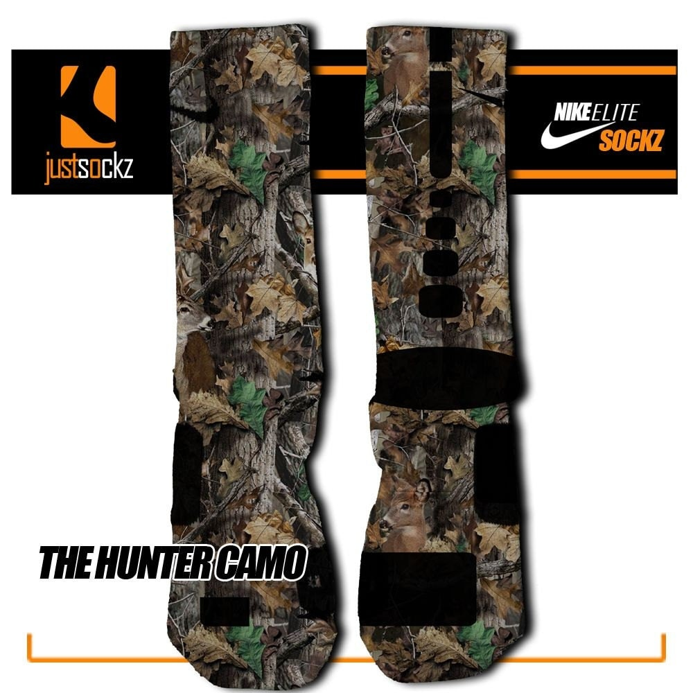 Nike Elite Socks Camo Hunter Camo Custom Nike Elite