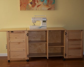 Sewing Cabinet & Sewing Machine Table