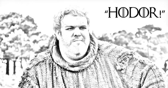 game of thrones hodor black and white photo and quote on 100
