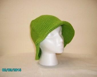 Kelly Green Adult Acrylic Crochet Hats