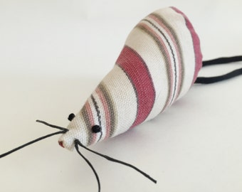 Catnip Mouse Toy - ORGANIC Catnip Toy - Refillable Cat Toy