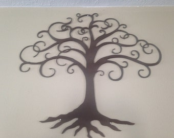 brown textured family tree