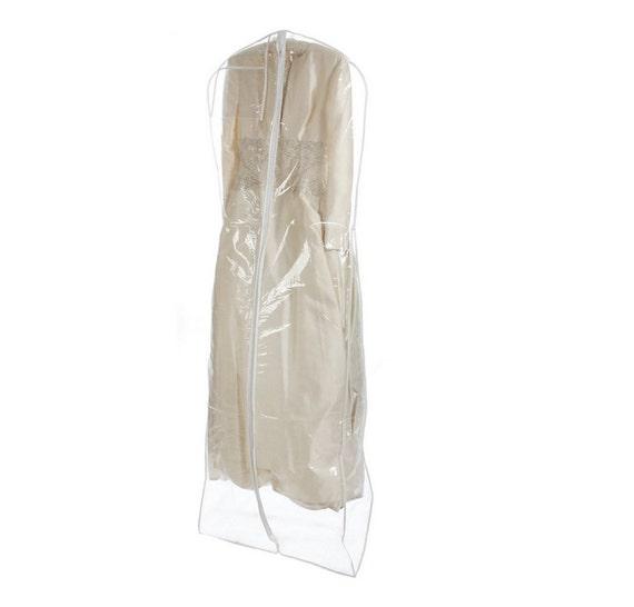 Heavyduty clear wedding gown garment bag storage thick