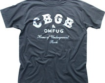 CBGB & OMFUG Home of Underground Rock Punk NYC club cotton t-shirt 9906