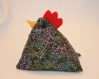 Chicken Pin Cushion, Chicken Decor, Shelf Sitter, Bowl Filler #114