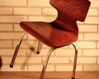 Vintage industrial school chair for children