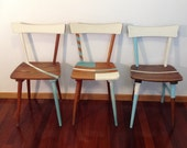 Dining Chairs, Shabby Chic Chairs, Vintage Chairs, Midcentury Chairs, Turquoise Chairs