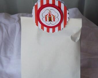 Circus Theme Favor Bag Clip -- Circus Theme Party Favor-- 10 Pack