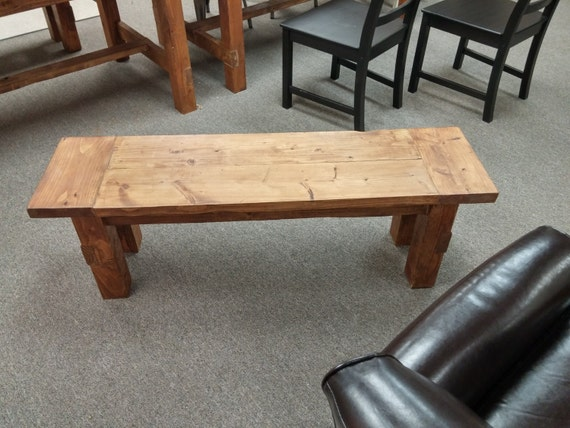 Farmhouse Bench Table Counter or Bar Height by WriggsWoodworking