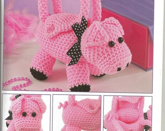 Hand crochet,made to order,  pig purse.