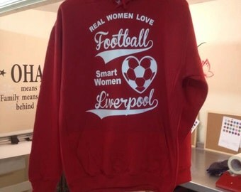 Football hoody, women, your favourite team, any colour