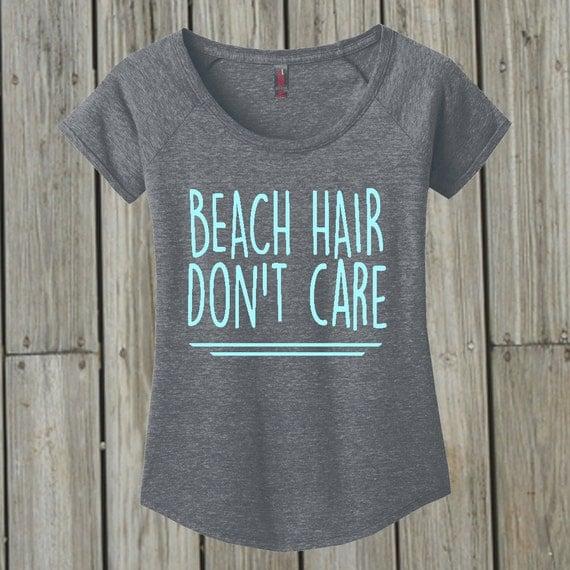 Beach Hair Don't Care. Inspirational. Womens Beach by ...