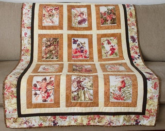 "Flower Fairy Quilt 100cm x 150cm (40"" x 60"")"