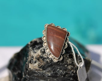 Sterling silver 925 ring with Jasper gemstone