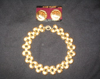 Ann Klein Choker and Earring Set REDUCED PRICE