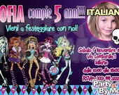 Personalized MONSTER HIGH Party INVITATIONS with your photos and texts (1)