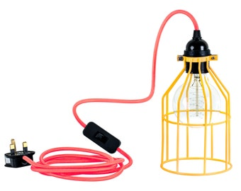 Metal Cage Industrial Light Lamp Colourful