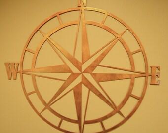 Nautical Compass Rose - Metal Wall Art - Nautical Compass