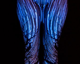 Star Spin Leggings (Blacklight Reactive!)