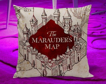 Harry Potter Marauders Map Pillow Case Can Make Custom Case
