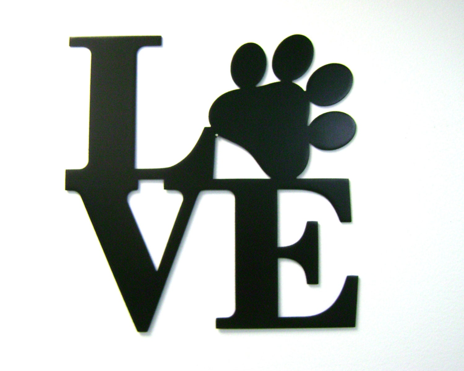 12 Love Words Pet Paw Print Metal Wall Sign Same As Ny