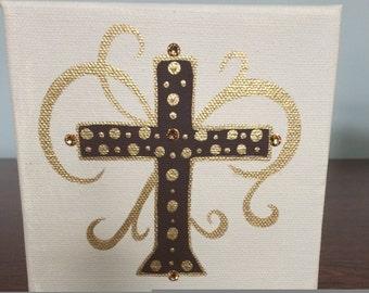 Acrylic, Small Block Cross