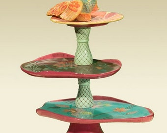 Whimsical Tiered Serving Piece