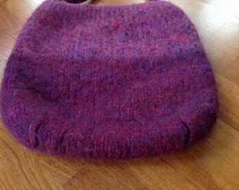 Handmade felted handbag.