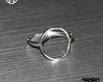 RING - Sterling Silver Infinity open circle Ring BFF (Handmade) by AwesoMore