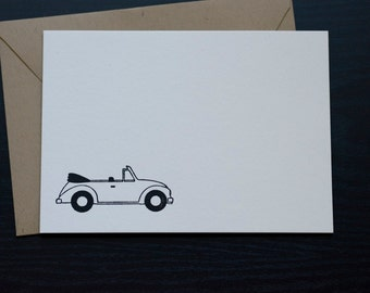 Letterpress Note Cards (A6)- Convertible with Brown Paper Bag Euro-Style Envelopes