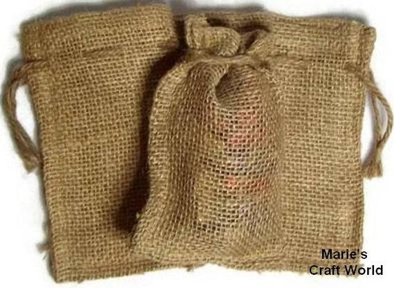 12 burlap bags 4 x 6 10cm x 15cm gift bags favor bags for Burlap sack decor