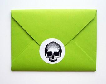 Black & White Skull Sticker 24 Pack: FREE SHIPPING