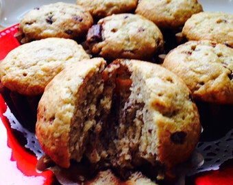 Over the Top Banana-Nut Chocolate Chunk Muffins, Mrs. C's Muffins, Banana Baked Goods, Banana Muffins, Baked with Love, Taste of Heaven