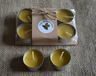 Beeswax Candles set of 6 Delightful round beeswax night lights
