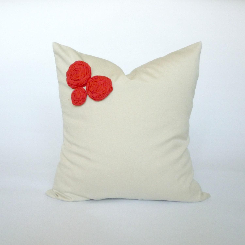 Cream/Tan Decorative Pillow Cover Throw Pillow by KFHomeDesign