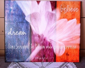 Inspirational Canvas Art Print 16x20