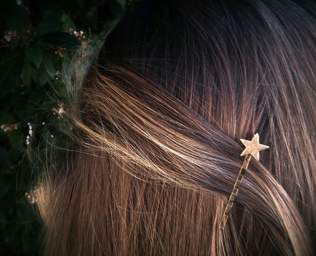 Gold Star Bobby Pins Star Hair Pins Hair Clips Hair by ...