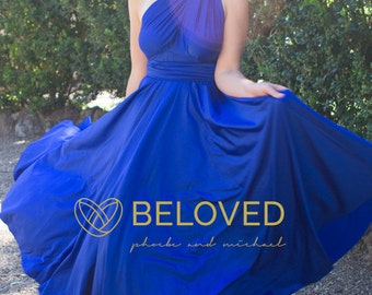 Convertible Infinity Dress Bridesmaid Dress Royal Blue