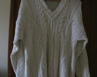 White boiled cotton sweater 1990s
