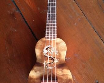 Great sound custom Thai woods handmade ukulele.Soprano Size.