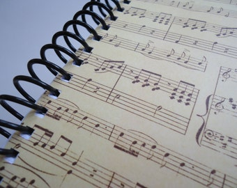 Old Sheet Music Notebook (Four Available)