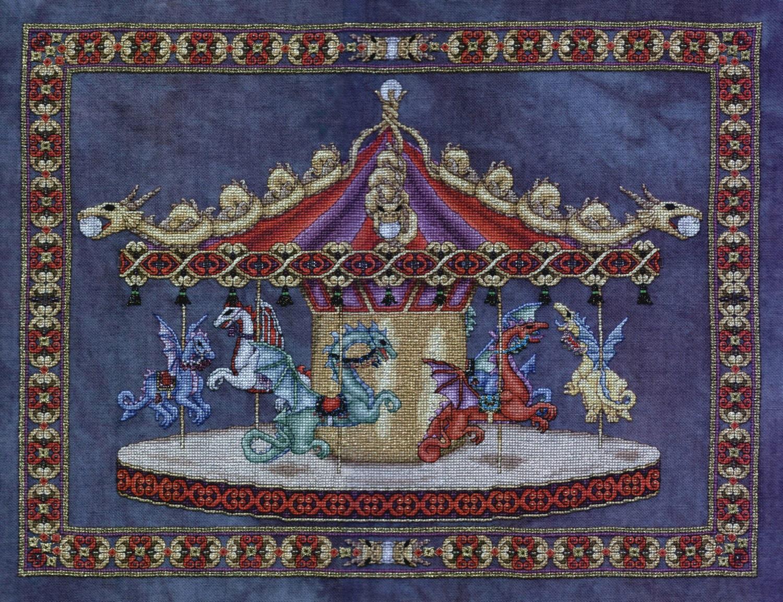Dragon Carousel Cross Stitch Pattern By Patricia Allison