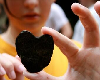Heart-shaped stone in Cane Creek, North Georgia