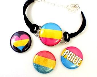 Pansexual Pride Bracelet - Magnetic Bracelet -  Pansexual Pride Jewelry - Pansexual Bracelet - Pansexual Jewelry - MOGAI Jewelry
