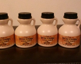 4- 8oz- Bottles 100% Pure Wisconsin Maple Syrup