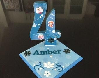 Disney Frozen inspired Birthday Party Centrepiece