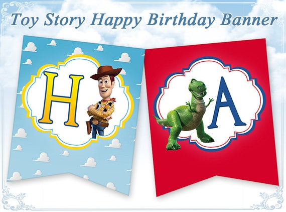 Toy Story 1st Birthday Banner Printable