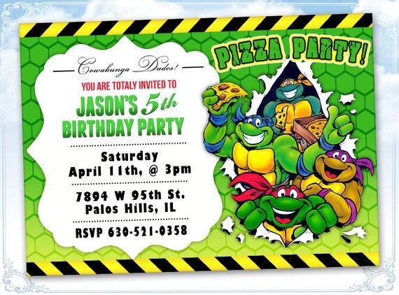 Préférence Etsy Ninja Turtle Invitations | alesi.info HZ18